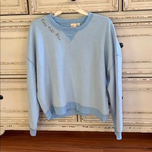 White crow medium sweatshirt NWOT